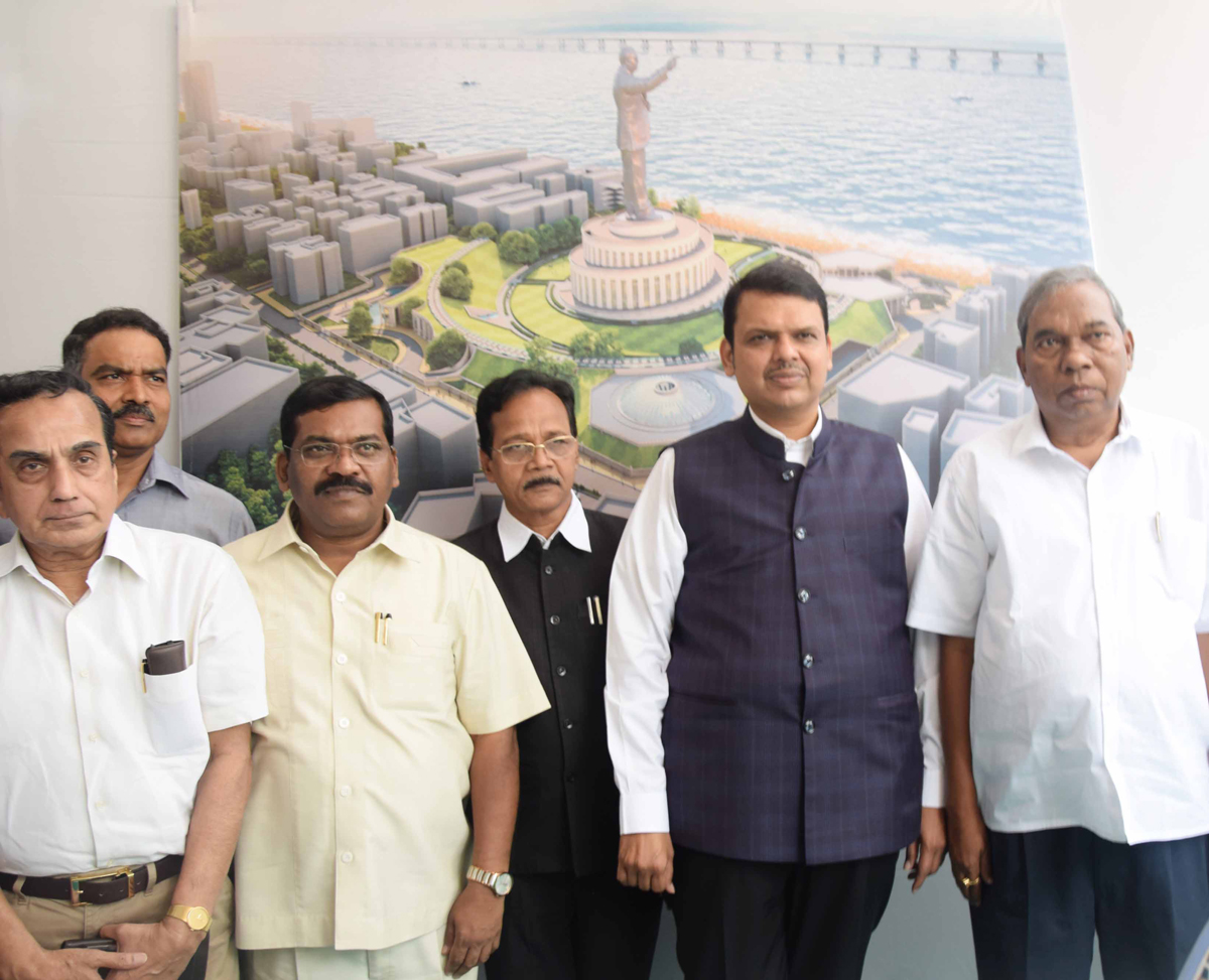 Chief Minister Devendra Fadnavis visit at Indu Mill Dadar.