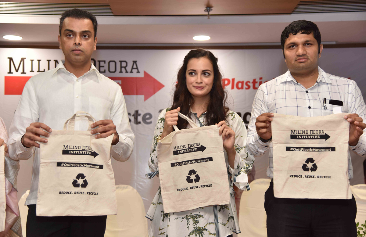 #QuitPlasticMovement---Initiative Milind Deora Supported by BMC To Flag Off @ Mrs.Dia Mirza.