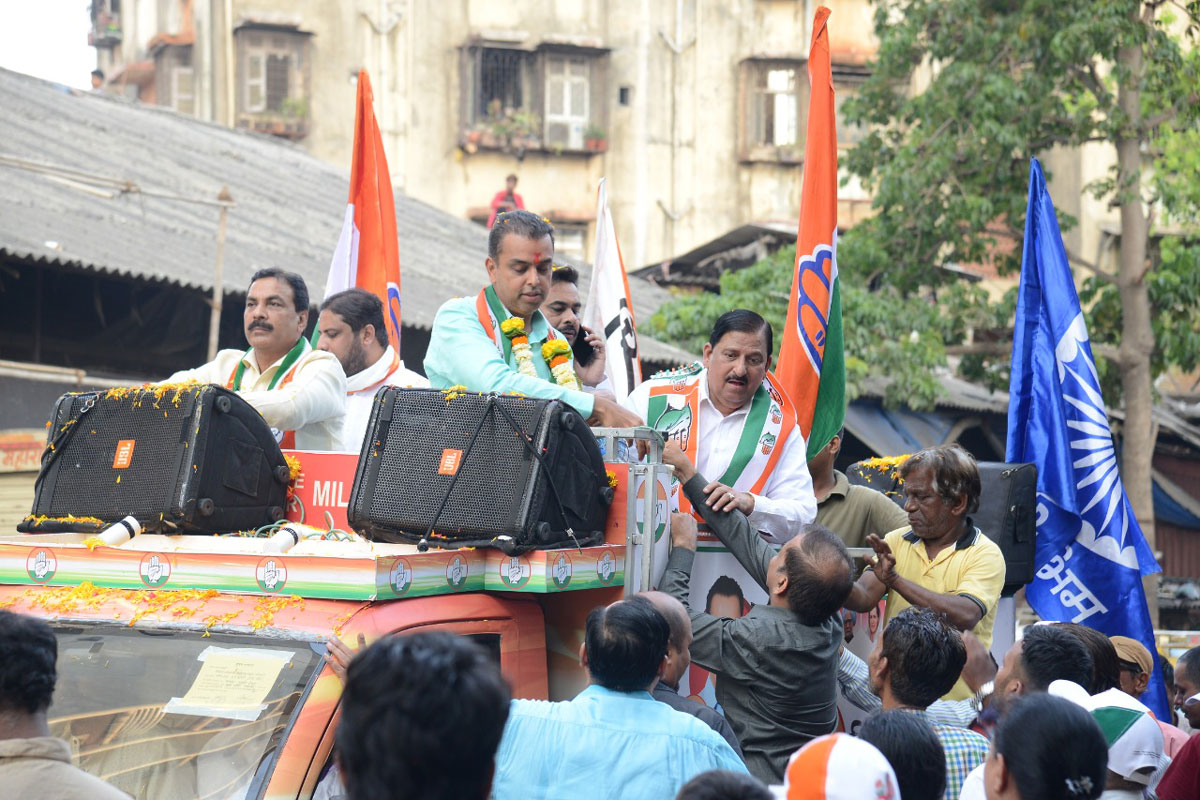 Mumbai South LS Congress Candidate Milind Deora Campaign Rally at Byculla.