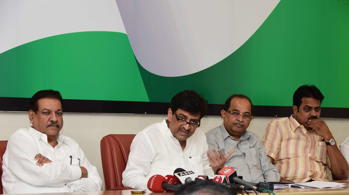 Congress Party Press Conference  on Sugar issue at Gandhi Bhavan Tanna House.