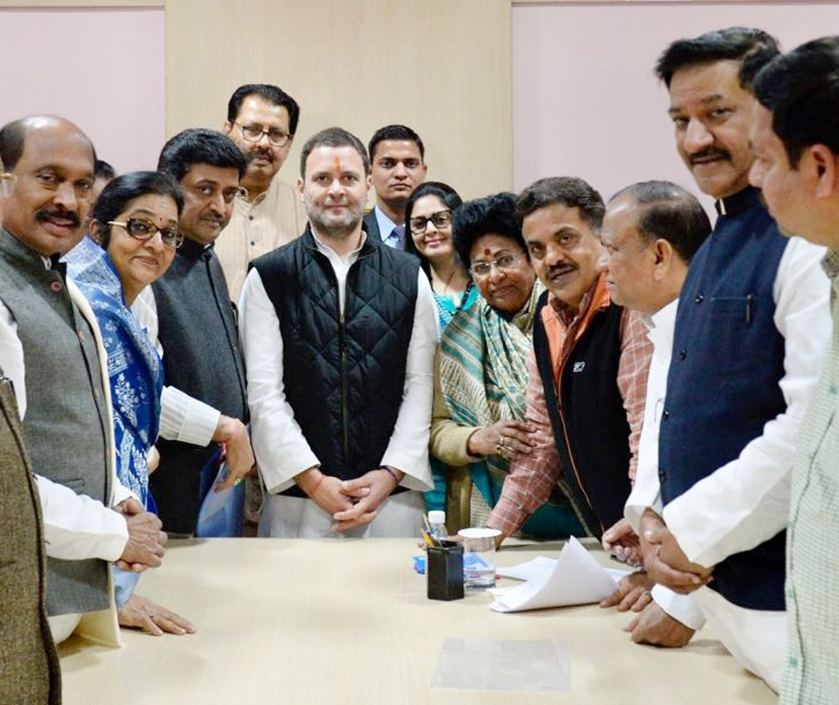 Congress Party Leader Rahul Gandhi Filed Nomination for AICC President.