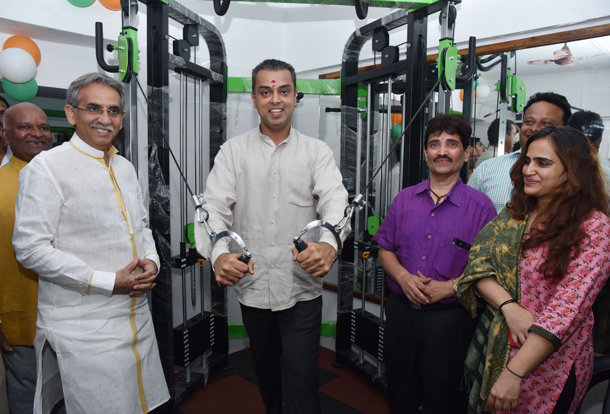 South Mumbai Ex.MP Milind Deora during Inauguration Of Gym at Immamwada.