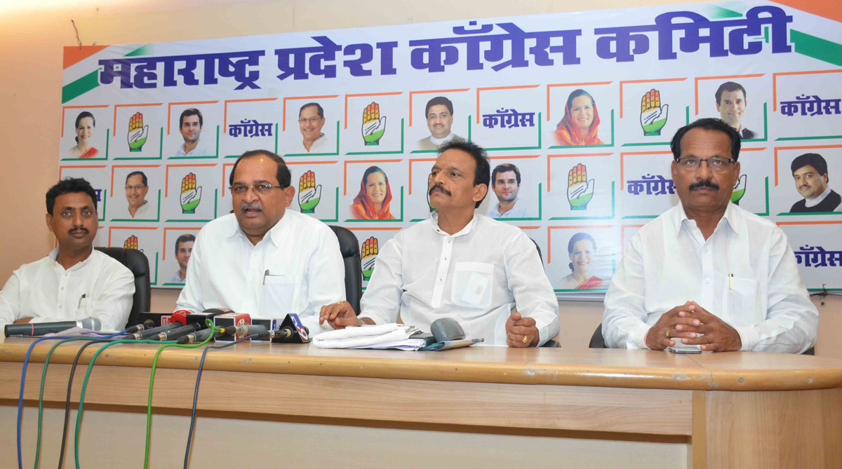 Opposition Leader MLA  Radhakrishna Vikhe Patil Press Conference at Gandhi Bhavan.