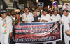 Congress Party Candle Vigil March Protest Agitation at Thane.