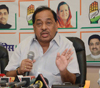 Ex.Chief Minister Narayanrao Rane Press Conference at Gandhi Bhavan.