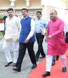 #Budget Session: Ruling Party & Opposition Party Leaders at Vidhan Bhavan Mumbai.