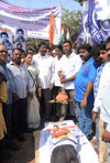 Congress-Bhimshakti Protest Leaded by Congress Leader & Ex.Minister Chandrakant Handore against Govt on Dalit Phd Scholar Rohit Vemula Sucide at Hyderabad University at Chembur.