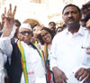Mumbai South Central LS Congress Candidate Eknathrao Gaikwad Filed Nomination at Old Custom House Fort Mumbai.
