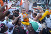 Mumbai South LS Congress-NCP Candidate Milind Depra during his Election Campaign Rally at Sewree.
