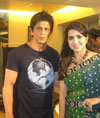 Shah Rukh Khan with Shaina NC on Zee TVs India First with Shaina NC.