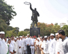 Mumbai Congress Paying Tribute to Bharatratna former Prime Minister of India Rajiv Gandhi on his Death Anniversary.