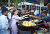 Mumbai North Lok Sabha Congress Party Candidate Urmila Matondkar visted Local Khau Galli and ate Vada Pav during her Campaign at Dahisar.