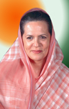 SONIA GANDHI (PRESIDENT ALL INDIA CONGRESS COMMITTEE).