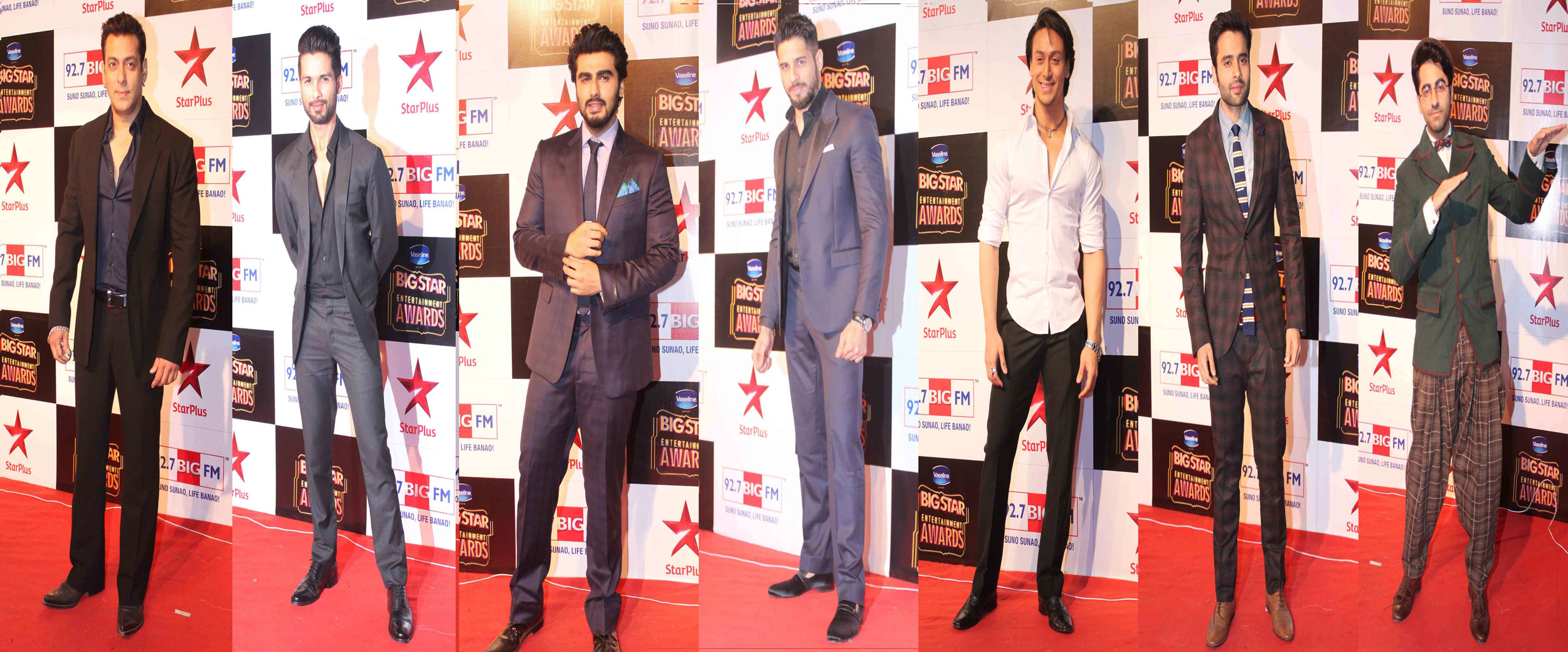 SuperStar's at Red Carpet of 92.7 BIG FM Big Star Entertainment Awards.