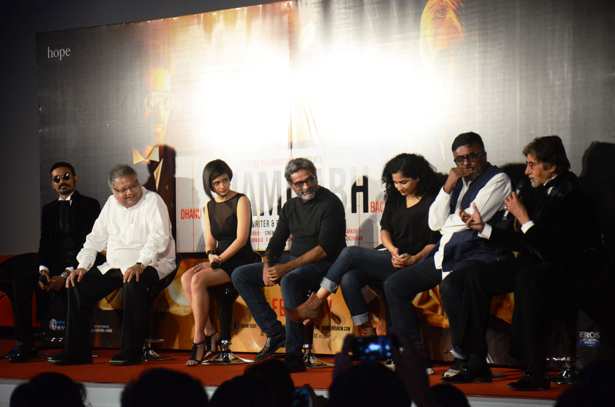 The Trialer launch of Shamitabh at Eros Theater.
