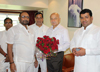 Mrcc Ex.President giving Birthday Wishes to Former Chief Minister Sushilkumar Shinde at Bandra Residence.