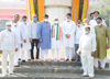 Congress Leaders Tribute to Maharashtra State Martyrs Memorial Day at Fort Hutatma Chowk Mumbai.