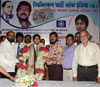 RPI PRESIDENT & EX.M.P. RAMDAS ATHAWALE HOCKEY PLAYER YURAJ VALMIKI & COACH DHANRAJ PILLE AT CHAITY BHOOMI DADAR