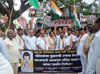Mumbai Congress SC cell Dept Protest Rally against BJP MLA Ravindra Chavan at Dharavi.